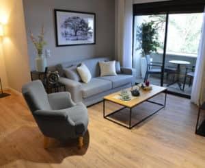 Résidence Services seniors Nahoma Orlhac à Aurillac appartement salon