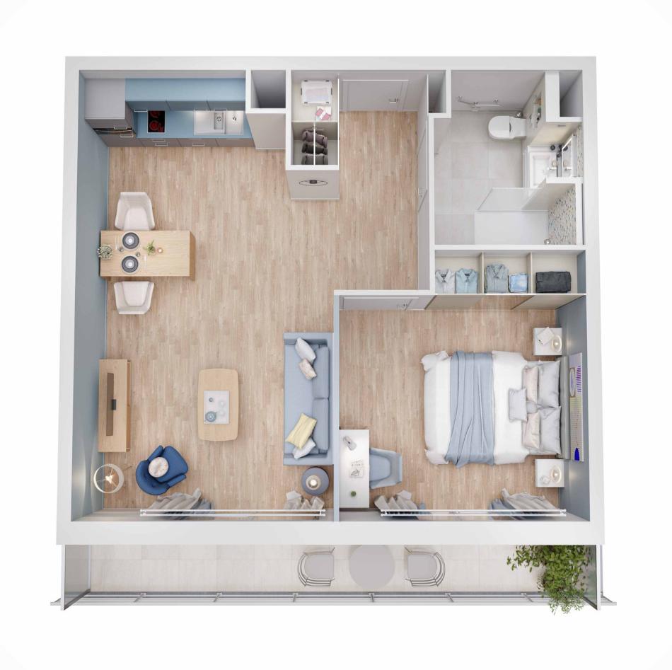 Résidence services senior Nahoma Vernon plan Appartement