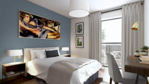 Votre chambre est calme, lumineuse et son mobilier a été choisi avec soin