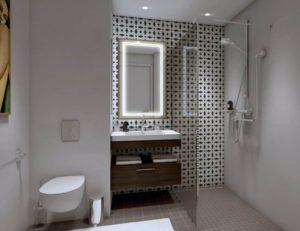 Une salle de bain accessible et sécurisée