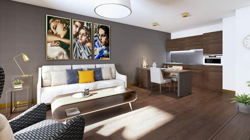Dans nos appartements intégralement meublés et décorés, vous vous sentez tout de suite chez vous